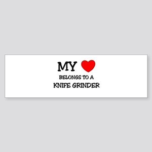 My Heart Belongs To A KNIFE GRINDER Sticker (Bumpe