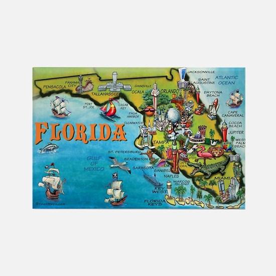 FloridaMap 11x17 Magnets