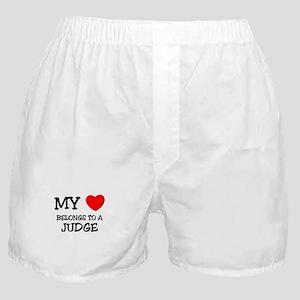 My Heart Belongs To A JUDGE Boxer Shorts