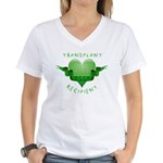Transplant Recipient 2007 Women's V-Neck T-Shirt