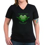 Transplant Recipient 2007 Women's V-Neck Dark T-Sh