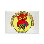 Otis the Flammulated Owl Rectangle Magnet