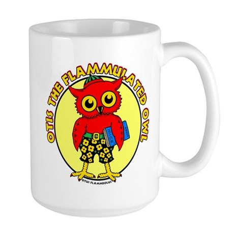 Otis the Flammulated Owl Large Mug