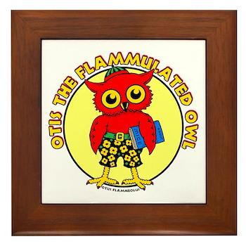 Otis the Flammulated Owl Framed Tile