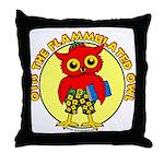 Otis the Flammulated Owl Throw Pillow