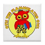 Otis the Flammulated Owl Tile Coaster