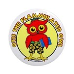 Otis the Flammulated Owl Ornament (Round)