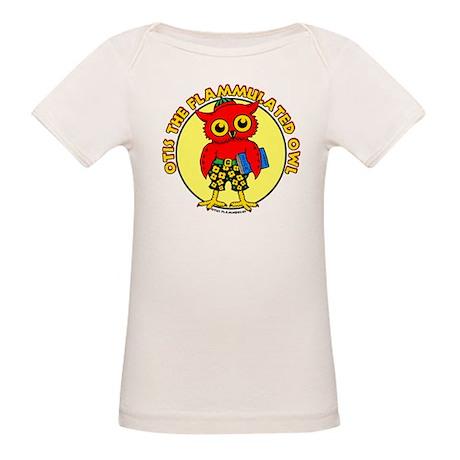 Otis the Flammulated Owl Organic Baby T-Shirt
