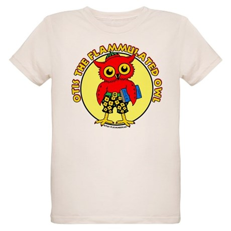 Otis the Flammulated Owl Organic Kids T-Shirt