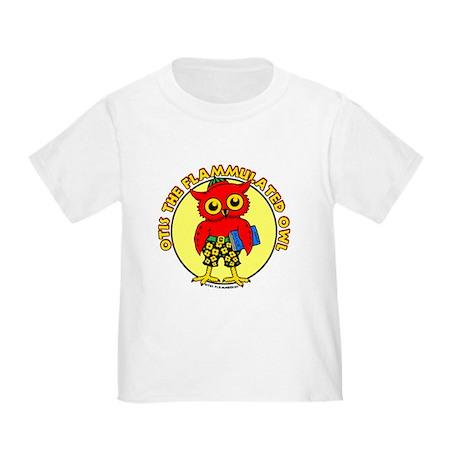 Otis the Flammulated Owl Toddler T-Shirt