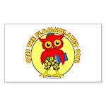 Otis the Flammulated Owl Rectangle Sticker