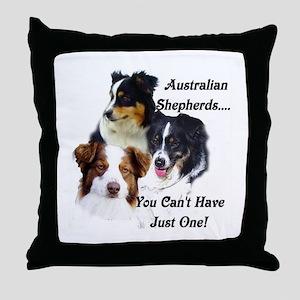 Aussie Group Throw Pillow