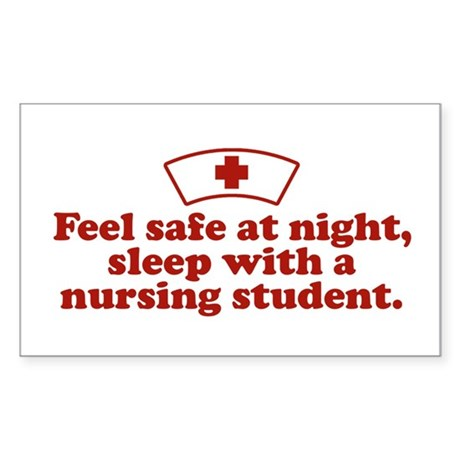 Funny Nursing Student Rectangle Sticker