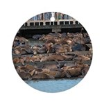 SF Pier 39 Sea Lions - Holiday Ornament