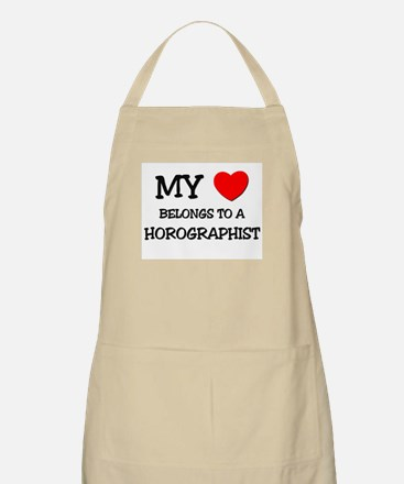My Heart Belongs To A HOROGRAPHIST BBQ Apron