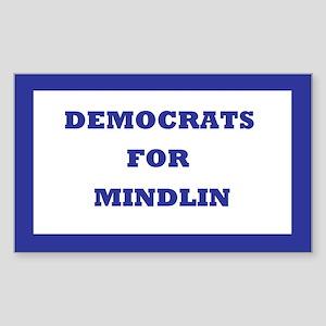 Democrats For Mindlin Rectangle Sticker