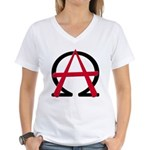 Christain Anarchy Women's V-Neck T-Shirt