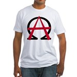 Christain Anarchy Fitted T-Shirt