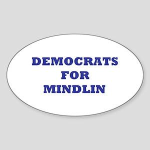 Democrats For Mindlin Oval Sticker