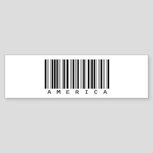 America Barcode Bumper Sticker