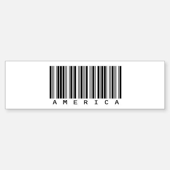America Barcode Bumper Bumper Bumper Sticker