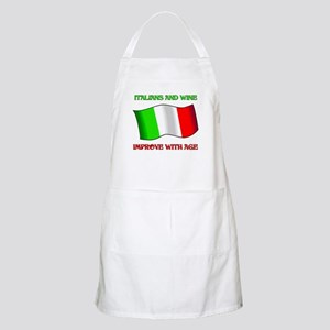 Italians and Wine Improve With Age BBQ Apron