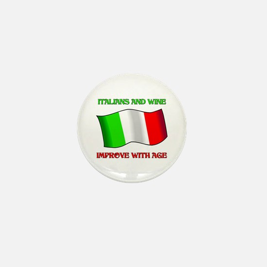 Italians and Wine Improve With Age Mini Button