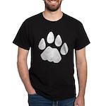 Cat Track Pawprint Black T-Shirt