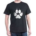 Dog Track Pawprint Black T-Shirt