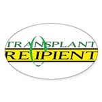 Transplant Recipient Oval Sticker