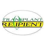Transplant Recipient Oval Sticker (10 pk)