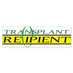 Transplant Recipient Bumper Sticker