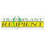 Transplant Recipient Bumper Sticker (10 pk)