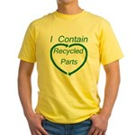 I Contain Recycled Parts Yellow T-Shirt