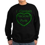 I Contain Recycled Parts Sweatshirt (dark)