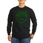 I Contain Recycled Parts Long Sleeve Dark T-Shirt