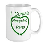 I Contain Recycled Parts Large Mug
