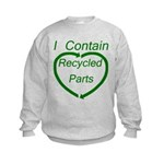 I Contain Recycled Parts Kids Sweatshirt