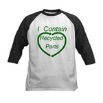 I Contain Recycled Parts Kids Baseball Jersey