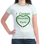 I Contain Recycled Parts Jr. Ringer T-Shirt