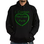 I Contain Recycled Parts Hoodie (dark)