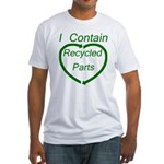 I Contain Recycled Parts Fitted T-Shirt