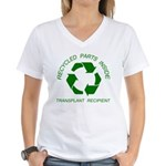 Recycled Parts Inside Women's V-Neck T-Shirt