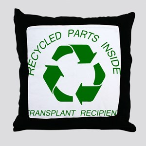 Recycled Parts Inside Throw Pillow
