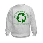 Recycled Parts Inside Kids Sweatshirt