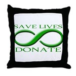 Save Lives. Donate. Throw Pillow