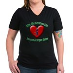 Greatest Gift Women's V-Neck Dark T-Shirt