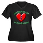 Greatest Gift Women's Plus Size V-Neck Dark T-Shir