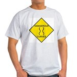 Dangerous Curves Sign Ash Grey T-Shirt