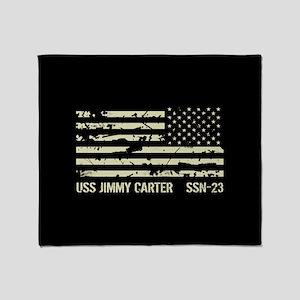 USS Jimmy Carter Throw Blanket